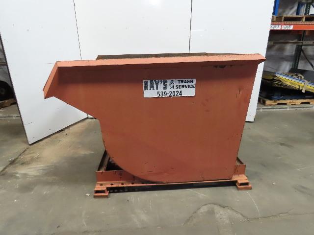 Heavy Duty 2 Yard 6000# Self Dumping Trash Hopper W/Side Fork Pockets