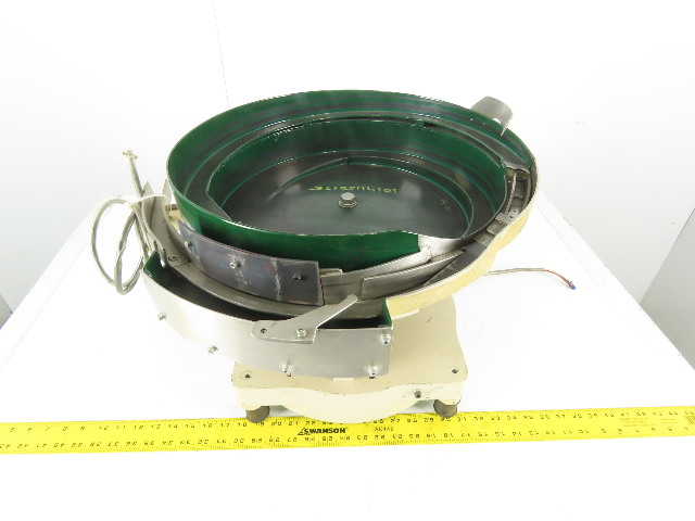 "Magnetic Vibratory Small Parts Feeder Bowl 115V 4"" Deep x 18"" Diameter"