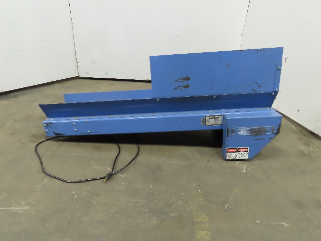"LAROS E-300-10-54 Slider Bed Belt Conveyor 10""wide x 54"" L  115V Single Phase"