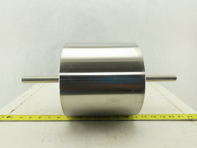 "Epoch 12508-2 8"" OD x 7"" Face Width Stainless Steel Drum Roller 3/4"" Shaft"