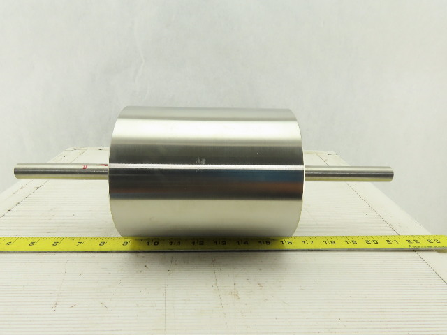 "6"" OD x 8"" BF 7"" Face Width Stainless Steel Drum Idler Roller"