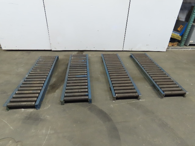 "Heavy Duty 60""x 16"" Gravity Roller Conveyor 13"" BF x 1.90"" Dia. Roller Lot of 4"