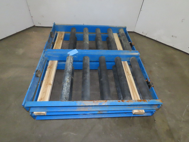 """Enersys 21"""" W x 40"""" D Forklift Battery Handling Roller Service Stand Lot Of 4"""
