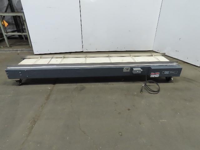 "LaRos Cleated Belt Slider Bed Conveyor 100""x15"" 27 FPM 115V 1Ph Single Phase"