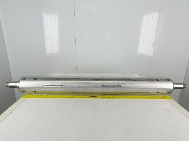 "Double E Duralight 6"" OD x 48"" Face Aluminum Expanding Web Roll Core Shaft"