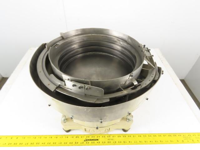 "Magnetic Vibratory Small Parts Feeder Bowl 115V 5"" Deep x 15"" Diameter"