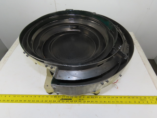 "Magnetic Vibratory Small Parts Feeder Bowl 115V 4"" Deep x 15"" Diameter"