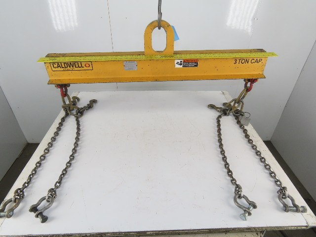 "Caldwell Strong Bac 3 Ton Lifting Spreader Bar W/ 2 Leg 28"" Sling Chains"