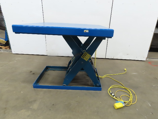"4000Lb Hydraulic Scissor Lift Table 48x48""  7"" to 42"" Lift 115V 1Ph"