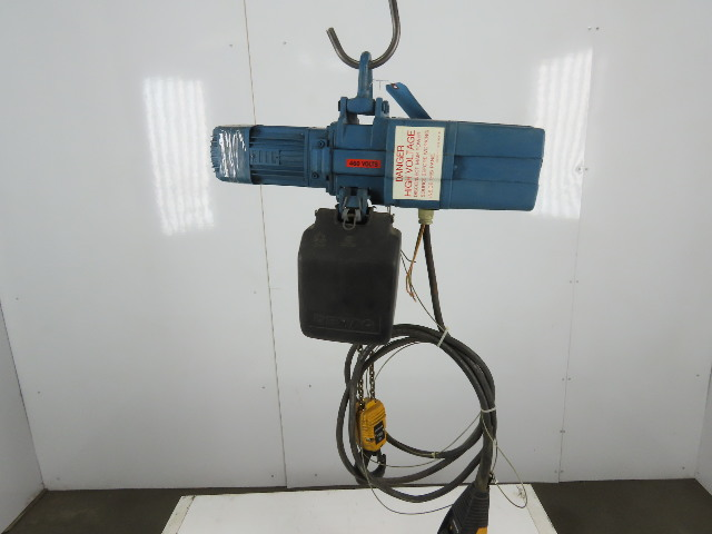 "Demag DKST 2-500 1100LBS Electric Chain Hoist 480V 3 Phase 16FPM 16''6"" Lift"