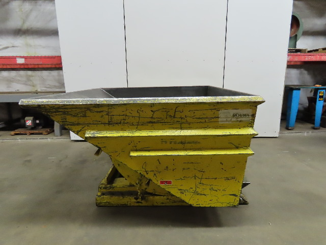 Roura 2-1/2 Cubic Yard Self Dumping Trash/Scrap Hopper Ultimate Reinforced 8000#