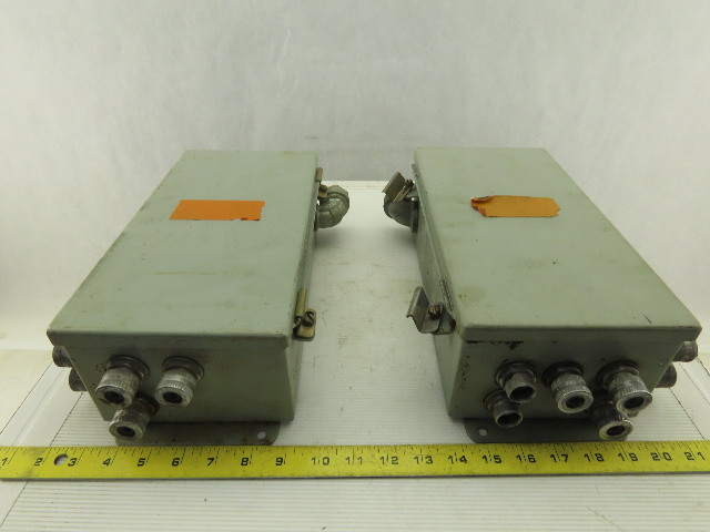 """Hoffman Wall Mount 12""""x6""""x4"""" Electrical Enclosure W/Back Plate Lot of 2"""