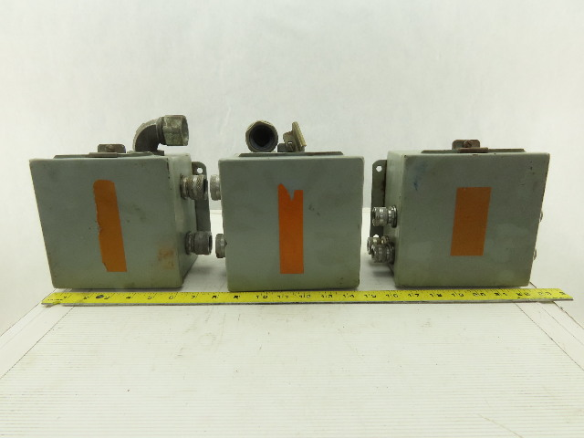 """Hoffman Wall Mount Hinged Door 6x6x4"""" Electrical Enclosure W/Back Plate Lot of 3"""