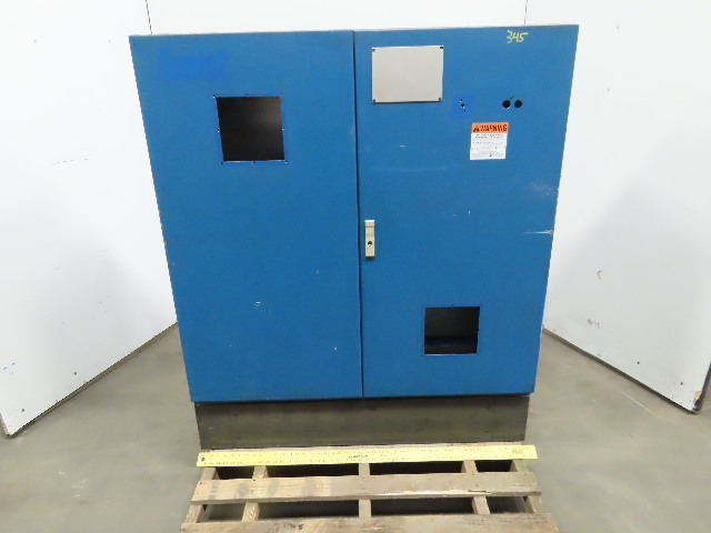 "46x46x14"" Free Standing 2 Door Electrical Enclosure Cabinet W/ Back Plate"