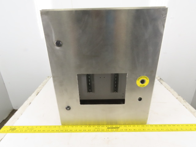 "SEC Stainless Steel Electrical Enclosure 24x24x8"" Wall Mount Hinged W/Back Plate"