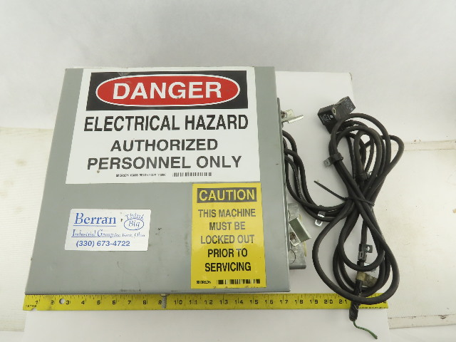 "Saginaw Control 12x12x6"" Electrical Enclosure Type 12 Misc. Components Included"