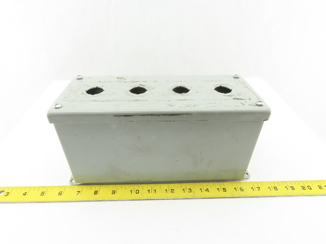 "Hoffman E4PBXM Extra-Deep 4 Pushbutton Electrical Enclosure 10""x4""x5"" Lot of 5"