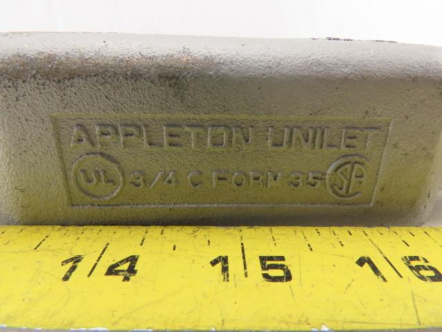 Appleton Electric Unilet 3//4/'/' C FORM 35 Conduit Body