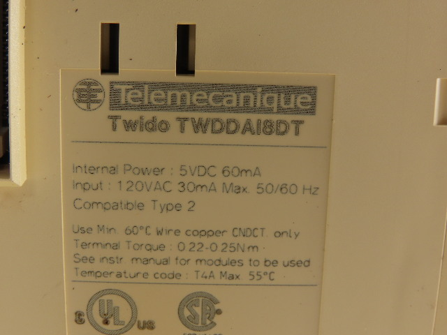 Details about  /Telemecanique Schneider Twido TWDDAI8DT Input Module Card PLC 110V