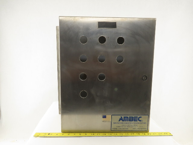 "Hoffman C-SD20166SS Electrical Enclosure Stainless Steel 20""x16""x6""W/Back Plate"