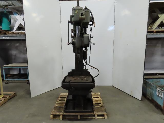 """Cincinnati Bickford 1L Box Column 21"""" Spindle Drill Press Power Down Feed 480V"""