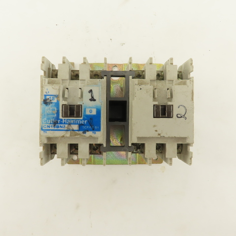 Cutler Hammer CN15BN3 Contactor Contact: 18A 600VAC Coil: 110//120VAC 3-Pole