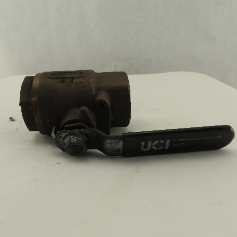 """Universal Components 1-1/4"""" Thick Wall Bronze Ball Valve 600WOG"""