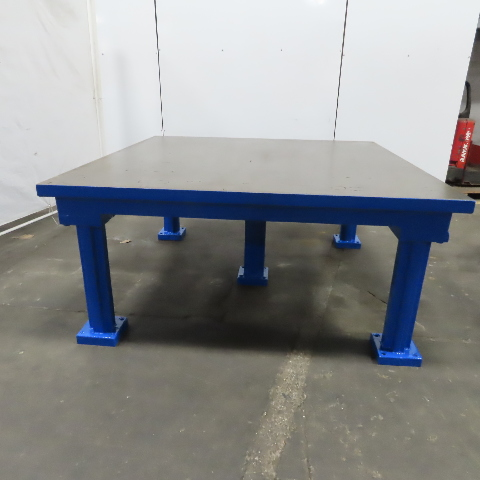 """Cast Iron 5 Leg 2"""" Webbed Top Layout Work Table Bench 72""""Lx72""""Wx33-1/2""""H"""