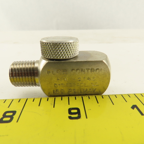 Dynabrade 95745 1/4 Male x 1/4 Female Ported Abrasive Tool Air Flow Regulator
