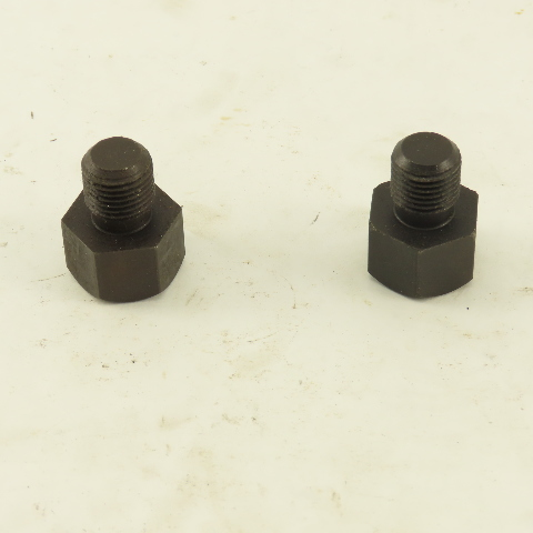 """1/2""""-20 Hex Head Threaded Rest Button 1/2"""" Head Height 1-5/64"""" OAL Lot Of 2"""
