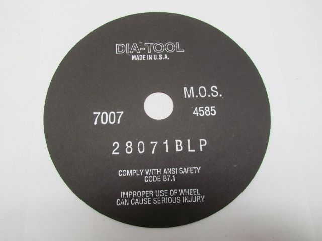 Dia-Tool 28071BLP 10x1//16x32mm Abrasive Cut-Off Wheel 4585 RPM Lot of 50