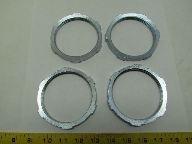 "Stainless Steel 3//4/"" Rigid Conduit Grounding Locknut Heavy Lot of 5"