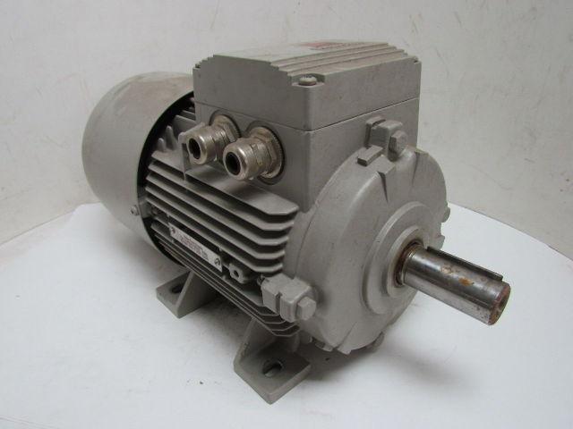 SIEMENS 1LA71074AA60-Z 3.45KW 4.6HP 4.6 HP MOTOR W// BRAKE 460V 3PH 3 PH 1720 RPM