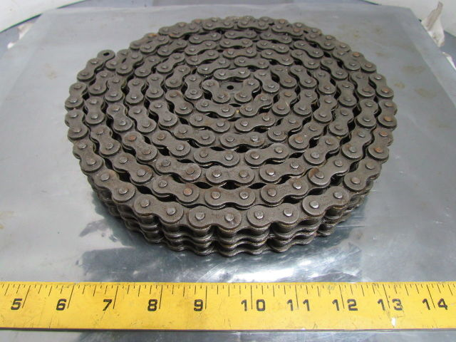 Details about ACME 50-2 No 50 Double Strand Riveted Roller Chain 5/8 Pitch  10 Ft