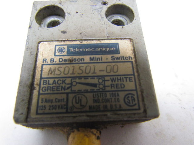 Telemecanique Ms01s01 00 Rb Denison Mini Switch 125 250