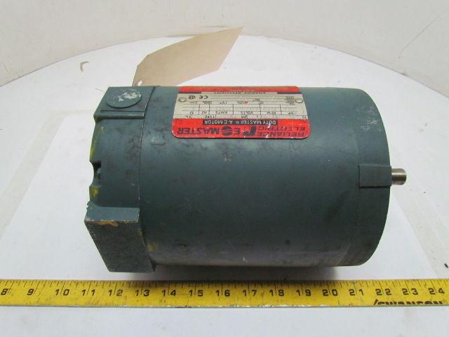 Reliance Electric P56X1337T AC Motor 3//4HP 3PH 1725RPM FM56C Frame 230//460V
