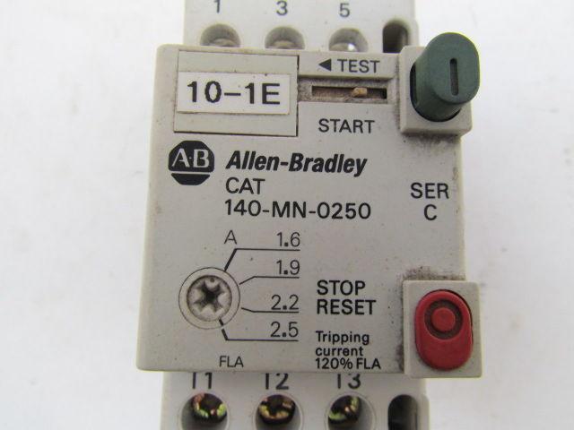 A B Allen Bradley Cat 140 Mn 0250 Ser C Starter Relay