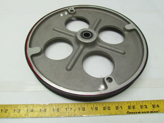 "SMALL ALUMINUM IDLER PULLEYS WITH BEARING IN CENTER-1-5//16/"" O.D.-9//16/"" WIDE 2"