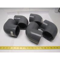 """Spears 806-030 - 3"""" PVC Gray 90-Socket X Socket Schedule 80 lot of 5"""