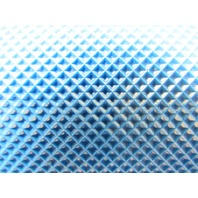 "2-Ply Blue Smooth X Embossed PVC Conveyor Belt 12Ft X 15-5/8"" 0.100"" Thick"