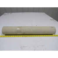 """2 Ply Grey PVC Smooth Top Conveyor Belt 13Ft X 24-7/8"""" 0.050"""" Thick"""