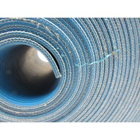 "2-Ply Blue Longitudinal Ribbed Conveyor Belt 28Ft X 5-3/4"" 0.100"" thick"