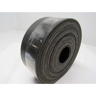 "3 Ply Black Rubber Smooth Top Conveyor Belt 33' X 3-3/8"" 0.140"" Thick"
