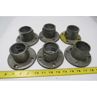 "Kee Klamp 61-8 Round Flange Pipe Fitting 1-1/2"" Lot of 6"