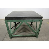 """48""""x48""""x6"""" Granite Inspection Surface Plate W/ Custom Built Leveling Table"""