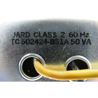 Jard TC502424B51A Transformer Class 2 50VA 120/208/240V Pri 24VAC Sec. 60Hz