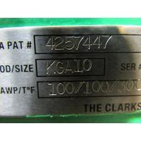 "Clarkson KGA10 Pneumatic 10"" KGA Slurry Knife Gate Valve W/16"" Dia. Cyl."