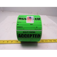 "Kenmore Label & Tag L41G-AC 3""x4"" Self Sticking ACCEPTED Tags Roll of 1000"