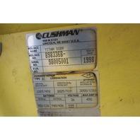 Cushman Titan SOBR 36V 2 Person Burden Carrier Utility Cart 3000 Lb. Cap.