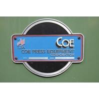 """COE PRESS EQUPT. CPR_PO_10024 Ser.18938-1 Uncoiler 30"""" Backplate 24"""" Max Matl."""